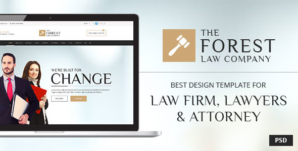 Download Free The Forest Law - PSD Template for Law Firm, Lawyer and Attorney