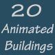 20 Animated Buildings - VideoHive Item for Sale
