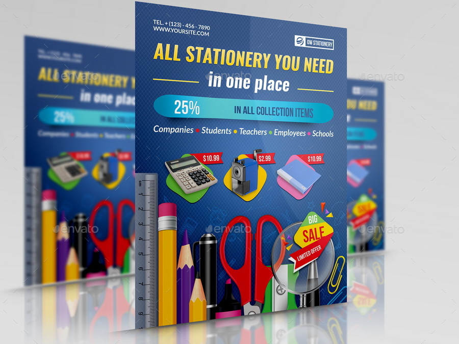 stationery products flyer template by owpictures