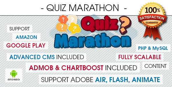 Quiz Marathon Trivia With CMS - Android - CodeCanyon Item for Sale