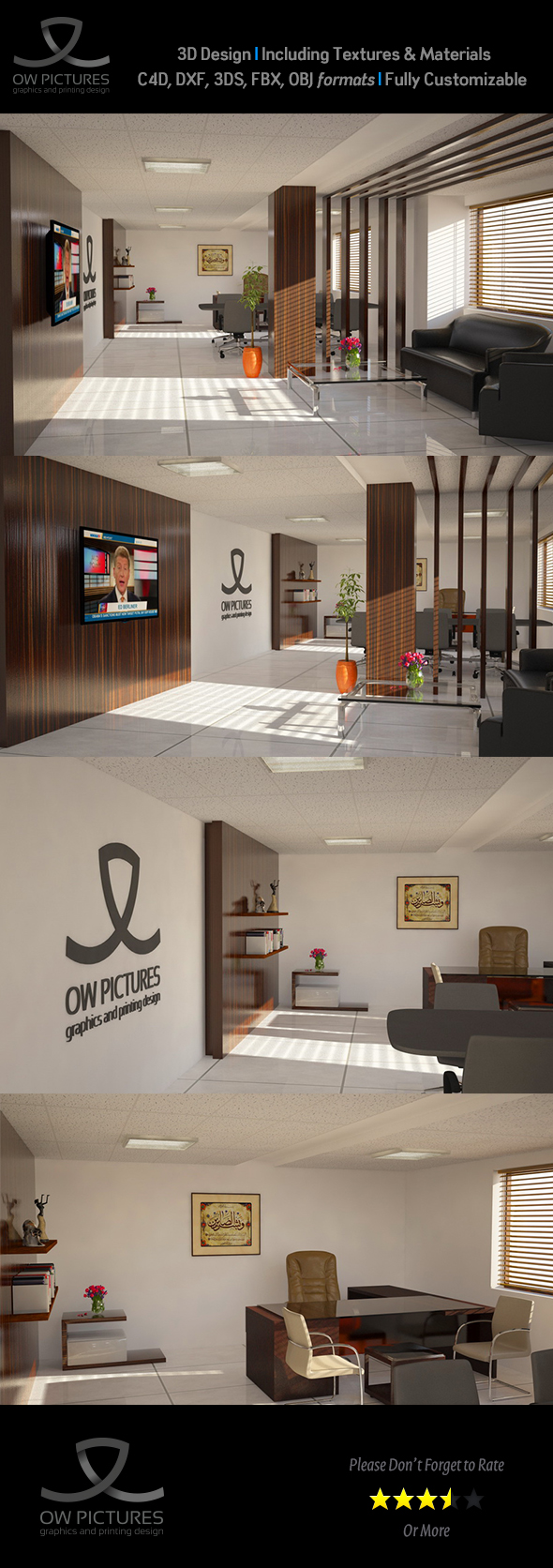 Office2 - 3D Model Design - 3DOcean Item for Sale
