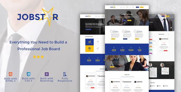 Jobstar - Job Board & Job Listing HTML Template - Business Corporate