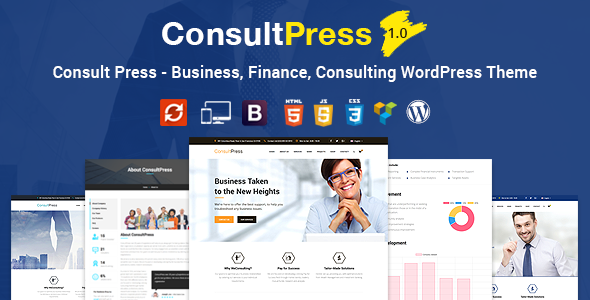 Consult Press - Finance  Consulting Business WordPress Theme - Business Corporate