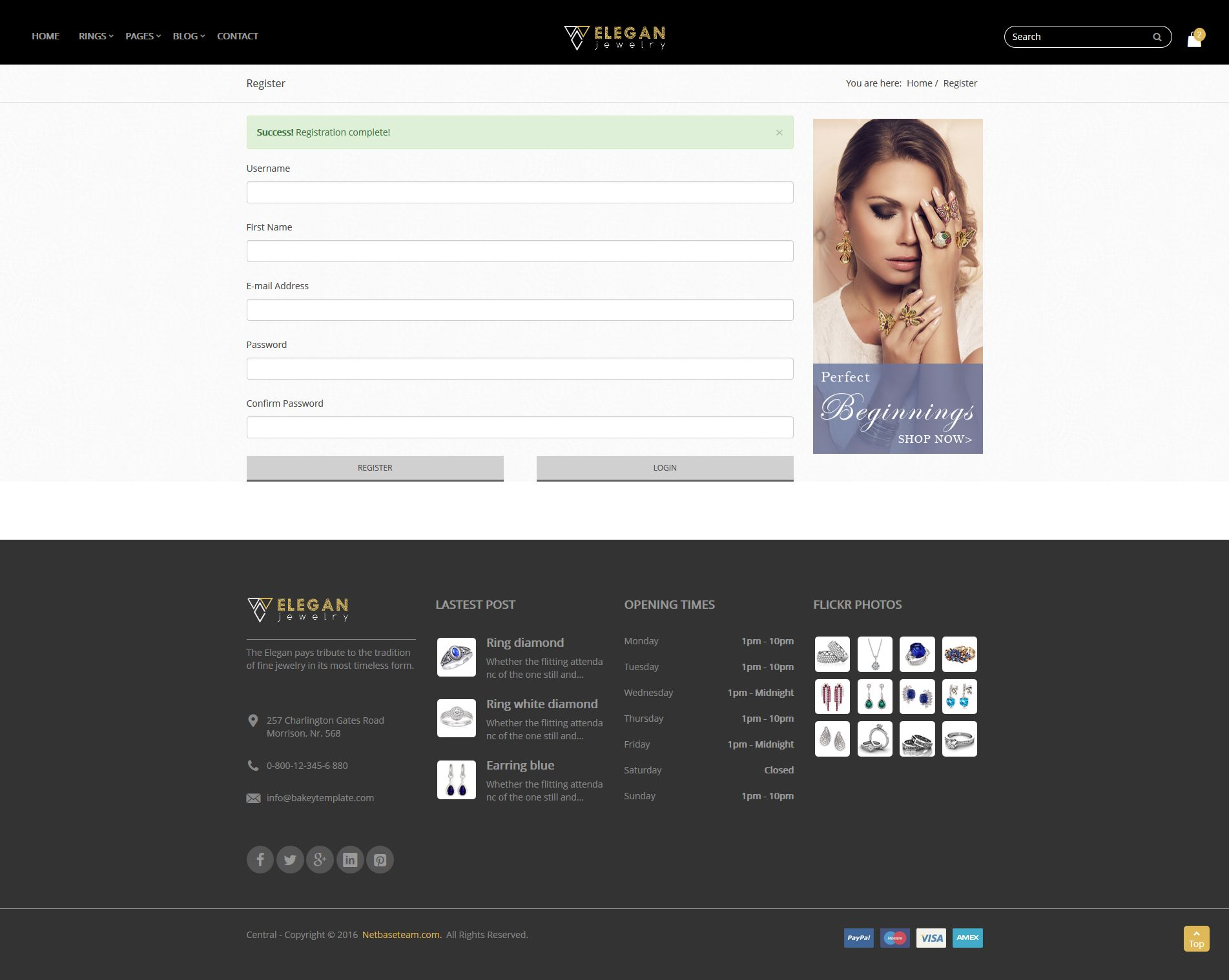 ELEGAN - Responsive HTML5 Jewelry Template by netbaseteam | ThemeForest