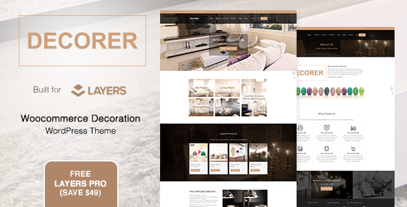 Decorer | Woocommerce Layers WordPress Theme