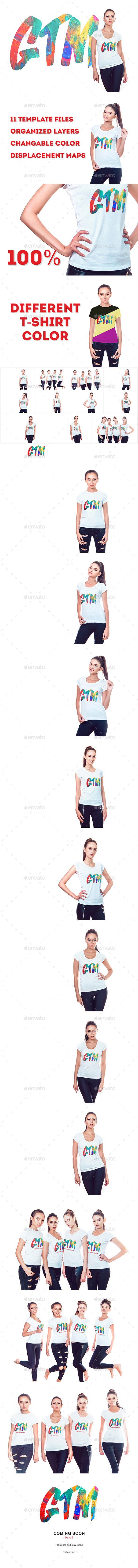 Women's T-Shirts Mock-Up