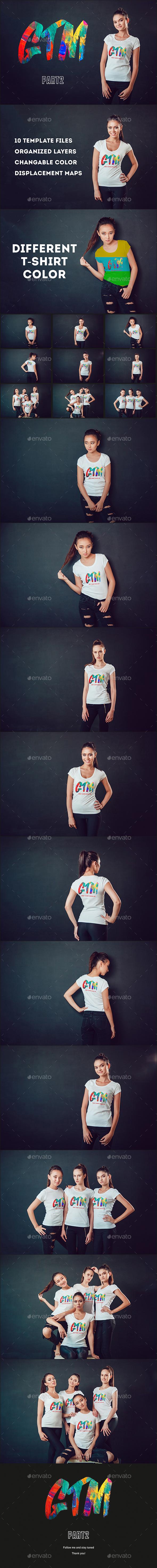 Women's T-shirts Mock-Up Vol 2