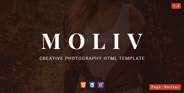 MOLIV - Creative Photography HTML Template with Page Builder - Photography Creative