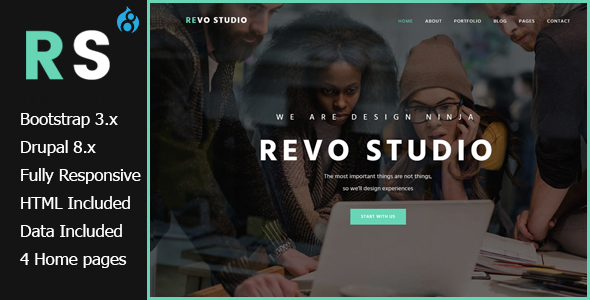 Revo Studio - Multipurpose Drupal 8 Theme