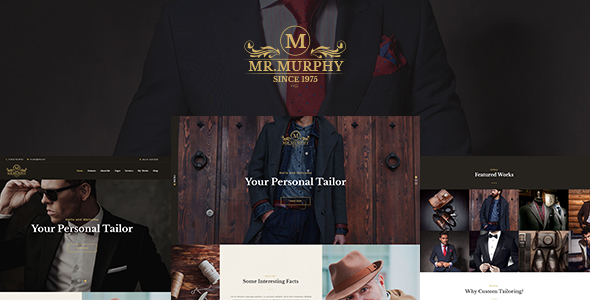 Mr. Murphy - Custom Tailoring WordPress Theme - Fashion Retail