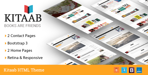 Kitaab Ebook Online Store HTML5 Template