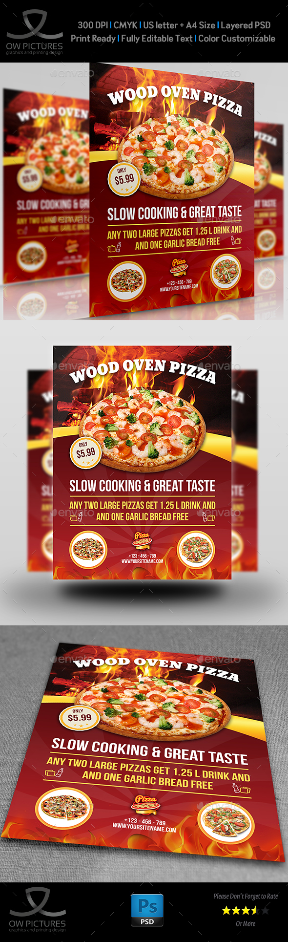 Pizza Restaurant Flyer Vol.2
