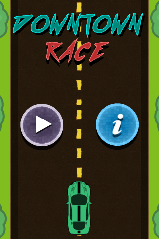 Downtown Race - Device Tilt Control + ADS Enabled +Endless runner + Obstacles & Powerups