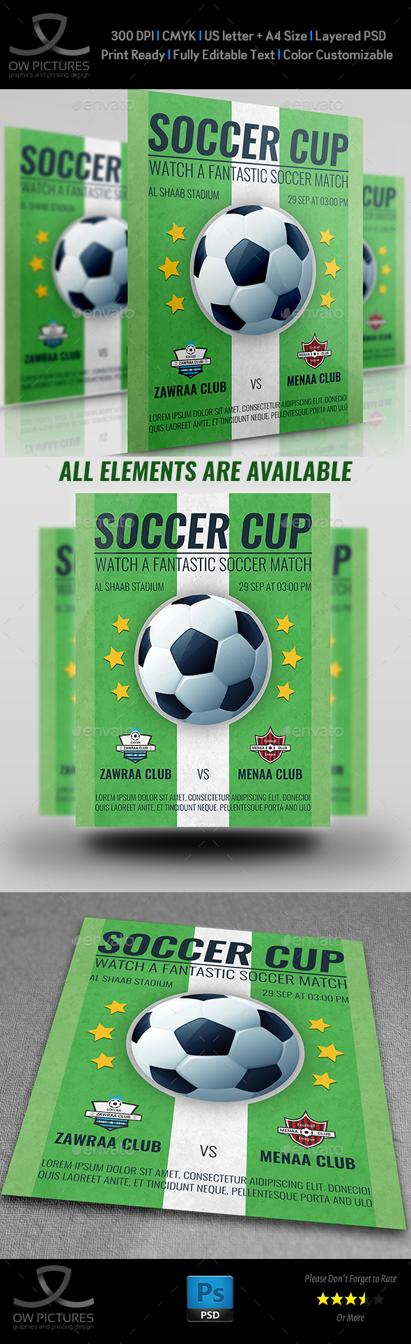 Soccer Flyer Template by OWPictures – Soccer Flyer Template