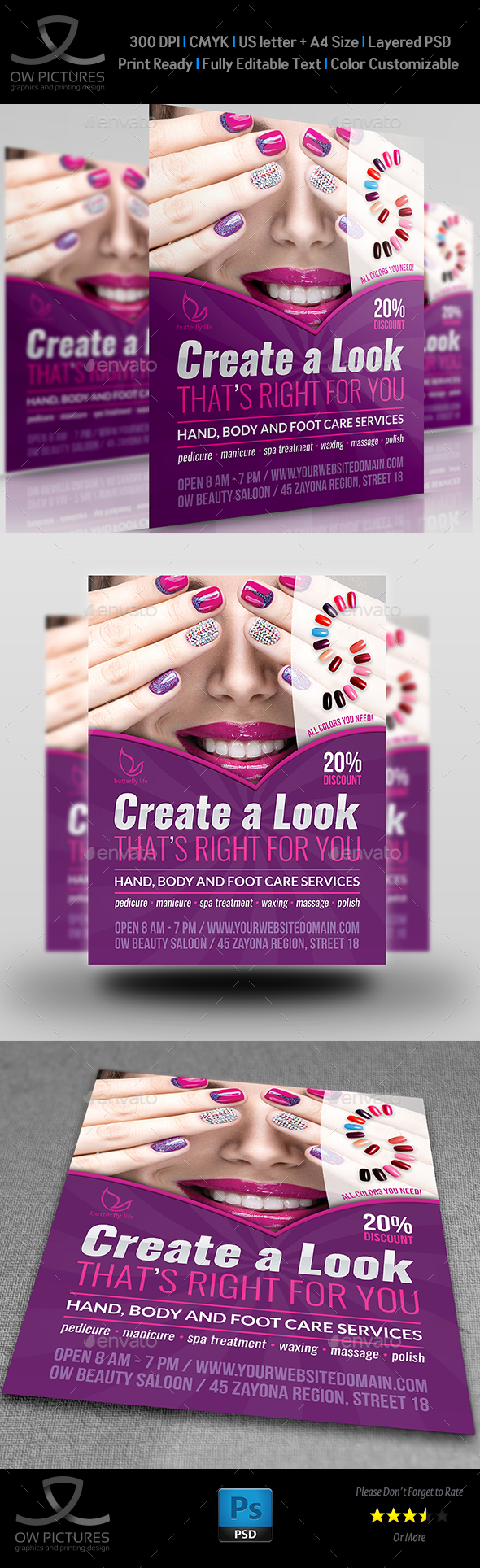 Nails Salon Flyer Template - Commerce Flyers