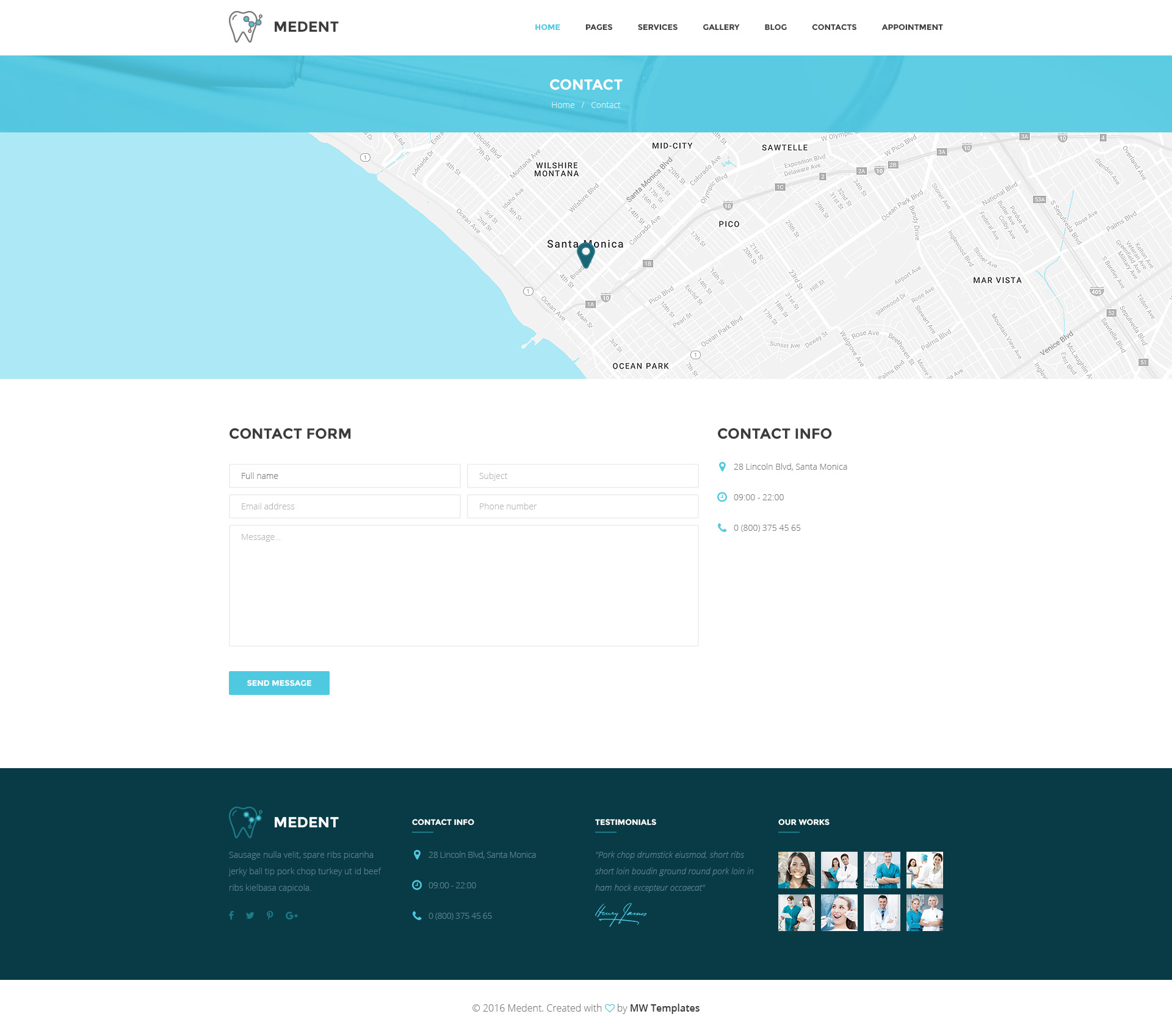 Medent Dental Clinic Psd Template By Mwtemplates Themeforest