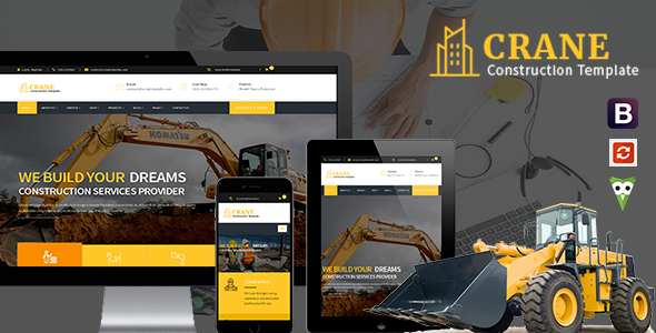 Crane - HTML5 Construction & Multipurpose Template