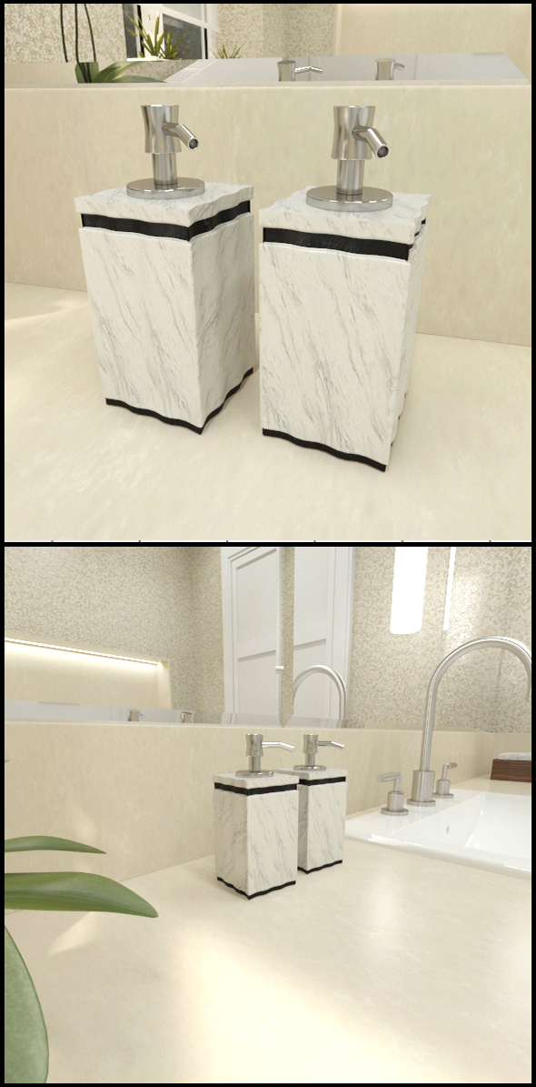 Marble/Granit soap dispensers - 3DOcean Item for Sale