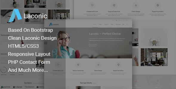Laconic – Business/Corporate HTML5 Template