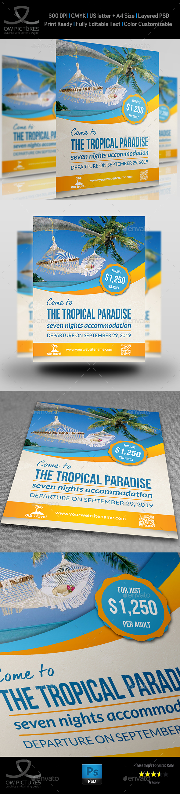 Tour and Travel Flyer Template - Holidays Events