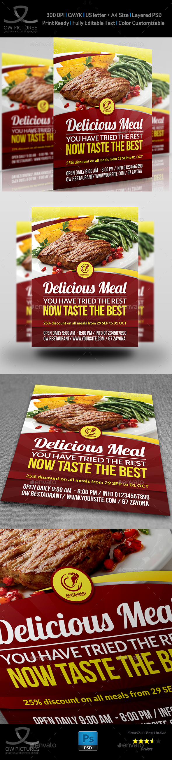 Restaurant Flyer Template Vol.9 - Restaurant Flyers