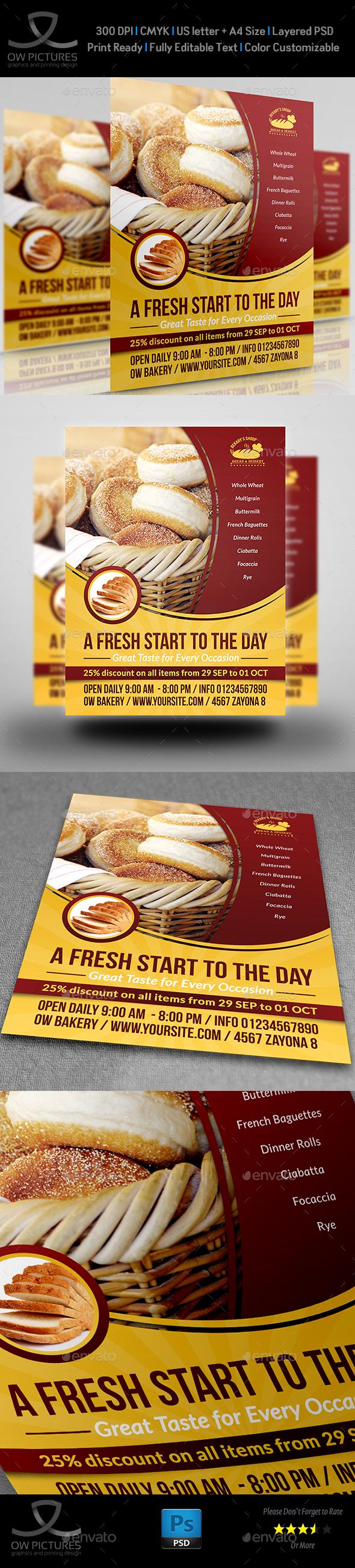 Bakery Flyer Template Vol.3 - Flyers Print Templates