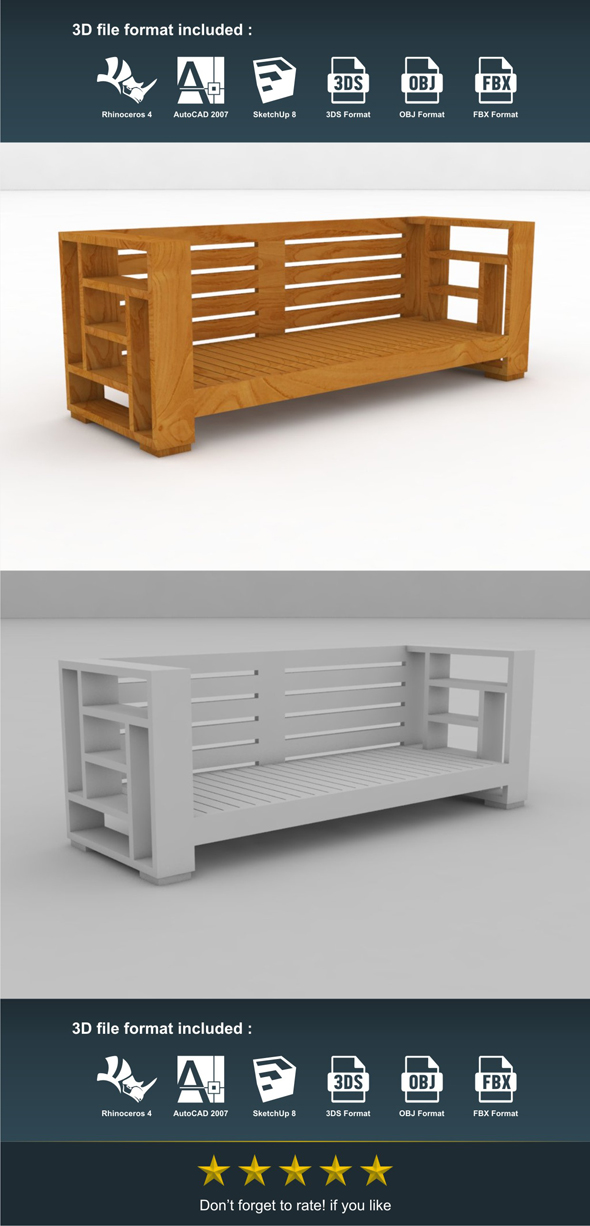 Cencek Bench - 3DOcean Item for Sale