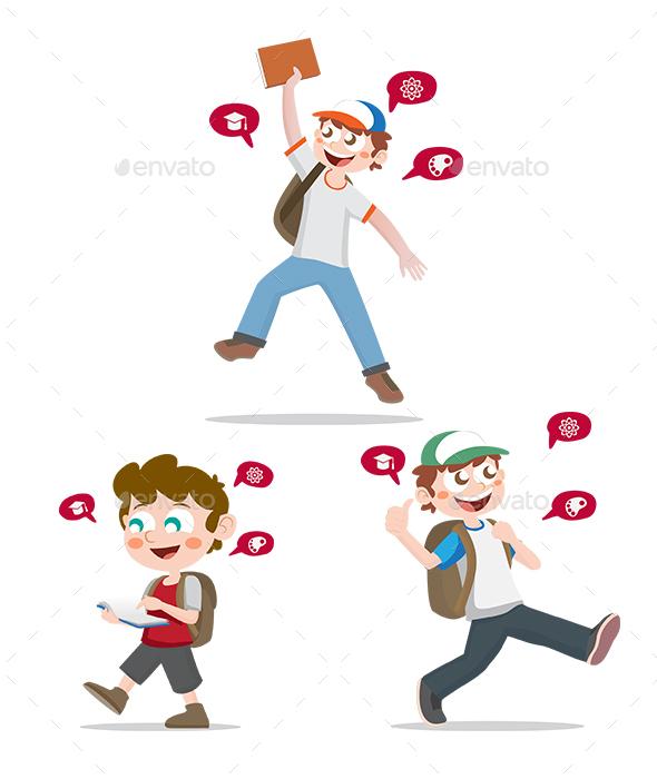 School Boys - People Characters