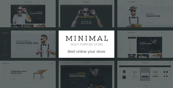 Minimal | Mutil-Concept eCommerce PSD Template