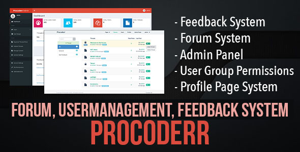 Procoderr - Forum, User Management and Feedback System - Built using Laravel - CodeCanyon Item for Sale