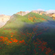 Aerial: Flying into the clouds during sunset, Tokachidake, Hokkaido, Japan - VideoHive Item for Sale