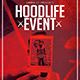 Hoodlife Event | Modern Urban Flyer PSD Template - GraphicRiver Item for Sale