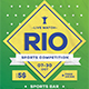 Rio Sports Competition Flyer