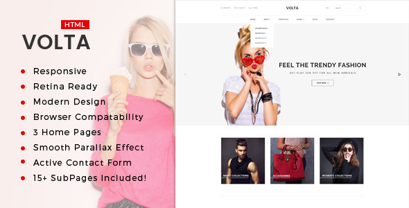 Volta : Minimal Shopping HTML5 Template - Fashion Retail