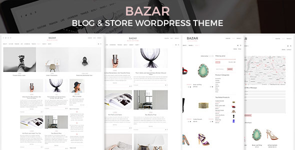 BAZAR - Blog & Store WordPress Theme