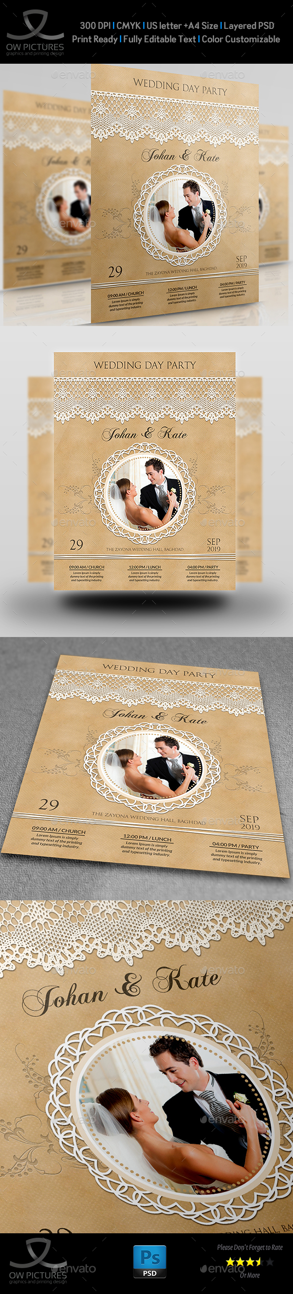 Wedding Party Flyer Template Vol.3