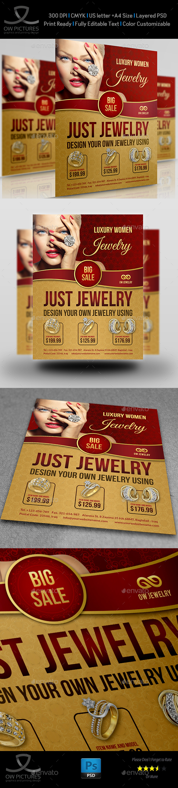 Jewelry Flyer Templates - Commerce Flyers