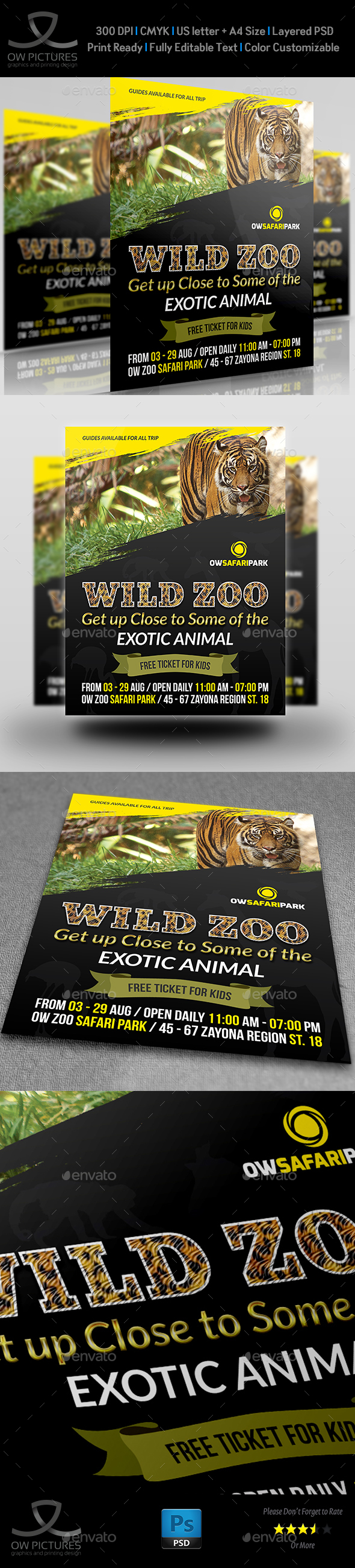 Zoo Flyer Template - Flyers Print Templates