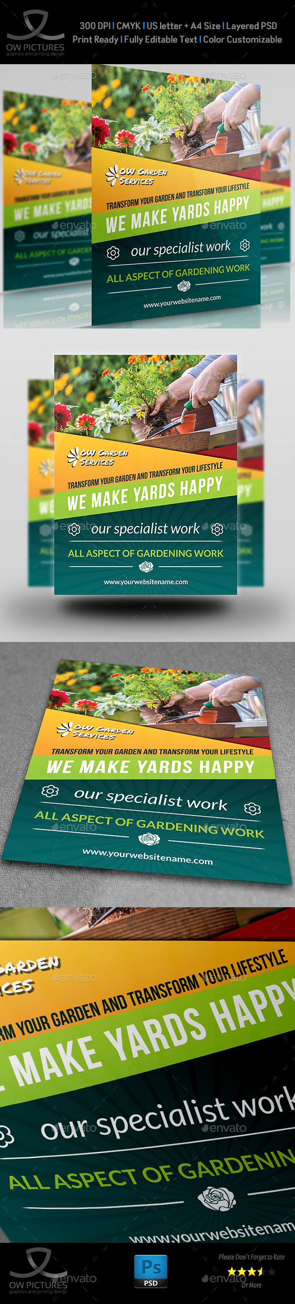 Garden Services Flyer Template Vol.3 - Flyers Print Templates