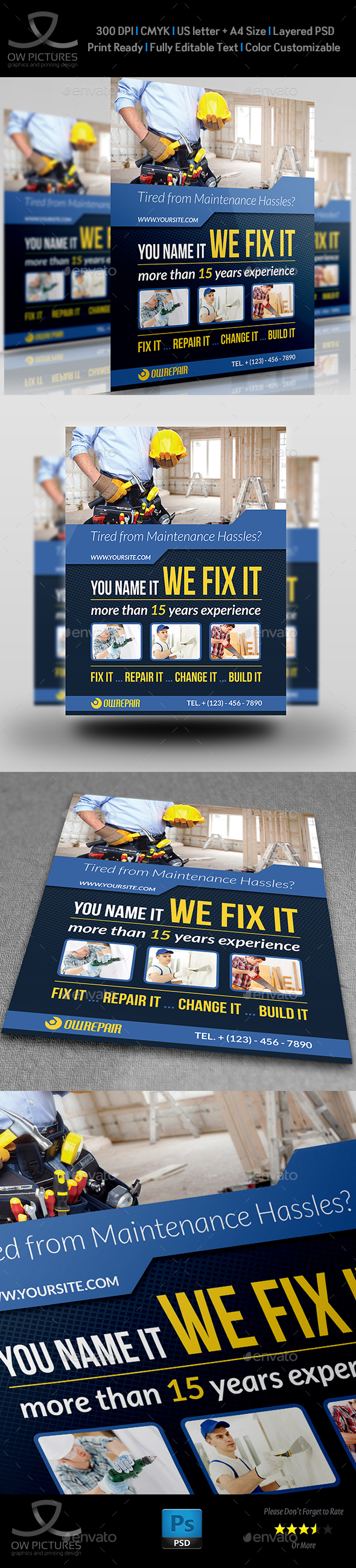 House Repair Flyer Template - Flyers Print Templates