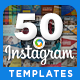 Instagram Template Banners - 50 Designs - GraphicRiver Item for Sale
