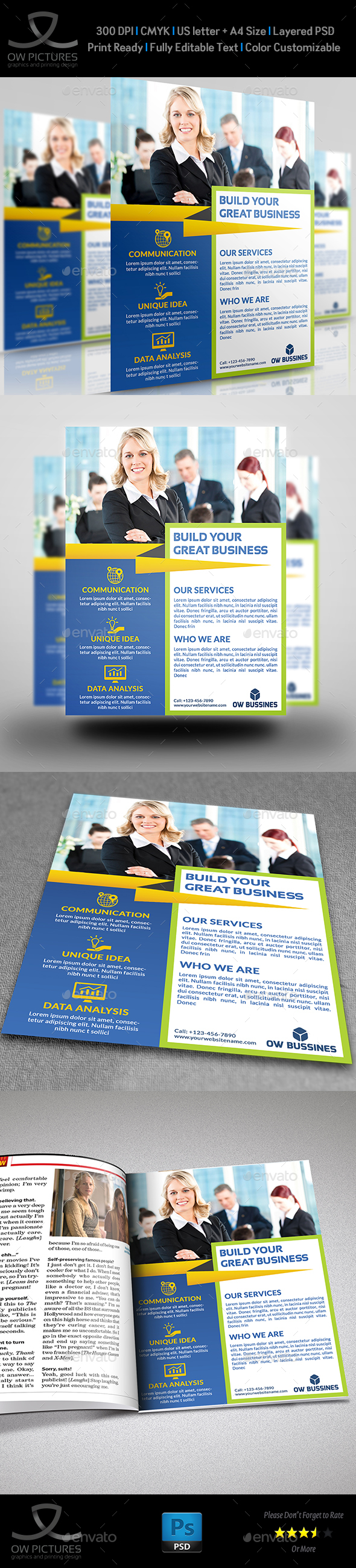 Corporate Business Flyer Template Vol.23 - Corporate Flyers