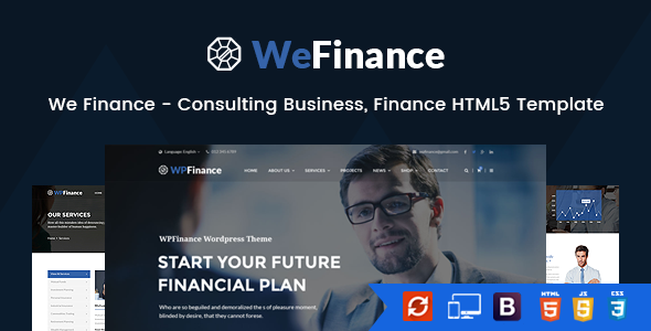 We Finance – Consulting Business, Finance HTML5 Template