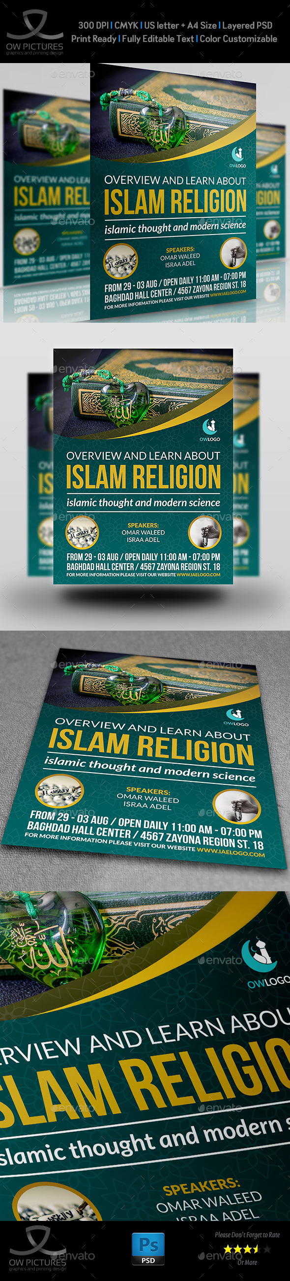 Islamic Flyer Template Vol.2 by OWPictures | GraphicRiver