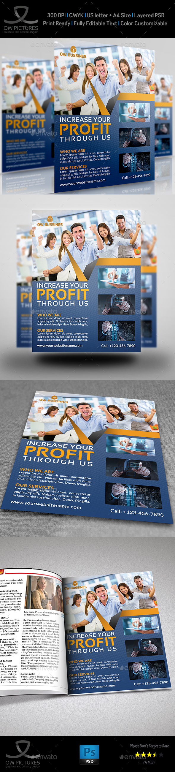 Corporate Business Flyer Template Vol.21 - Corporate Flyers