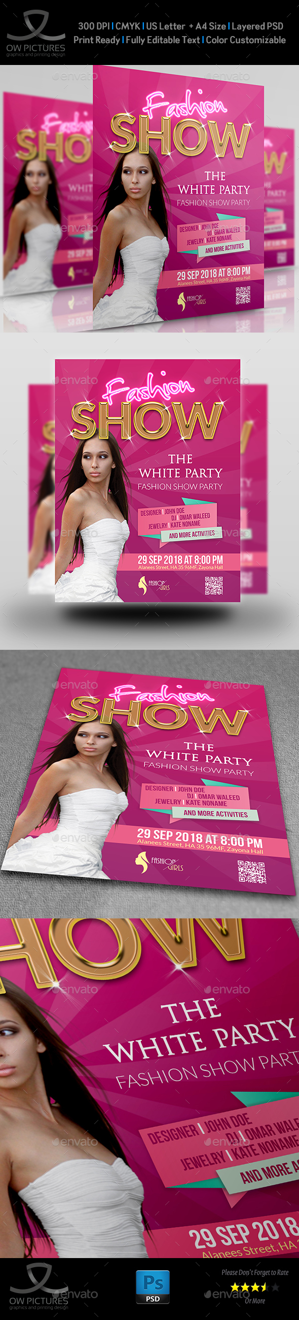 Fashion Party Flyer Template Vol.3 - Clubs & Parties Events