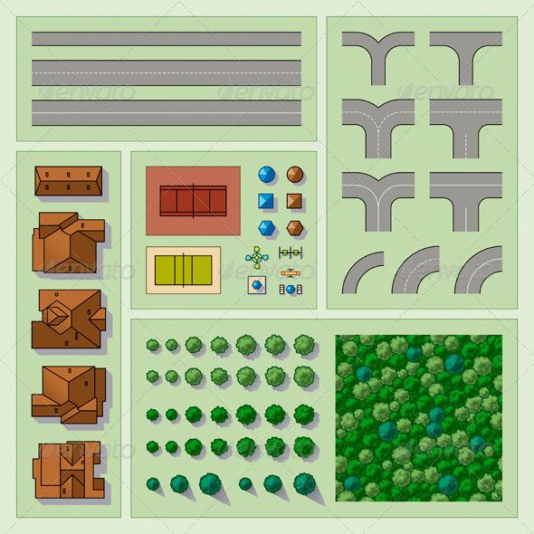 Set Of Map Elements - Miscellaneous Vectors