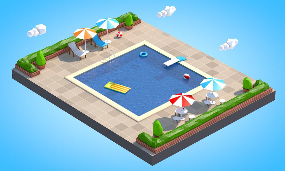 Low Poly Swimming Pool