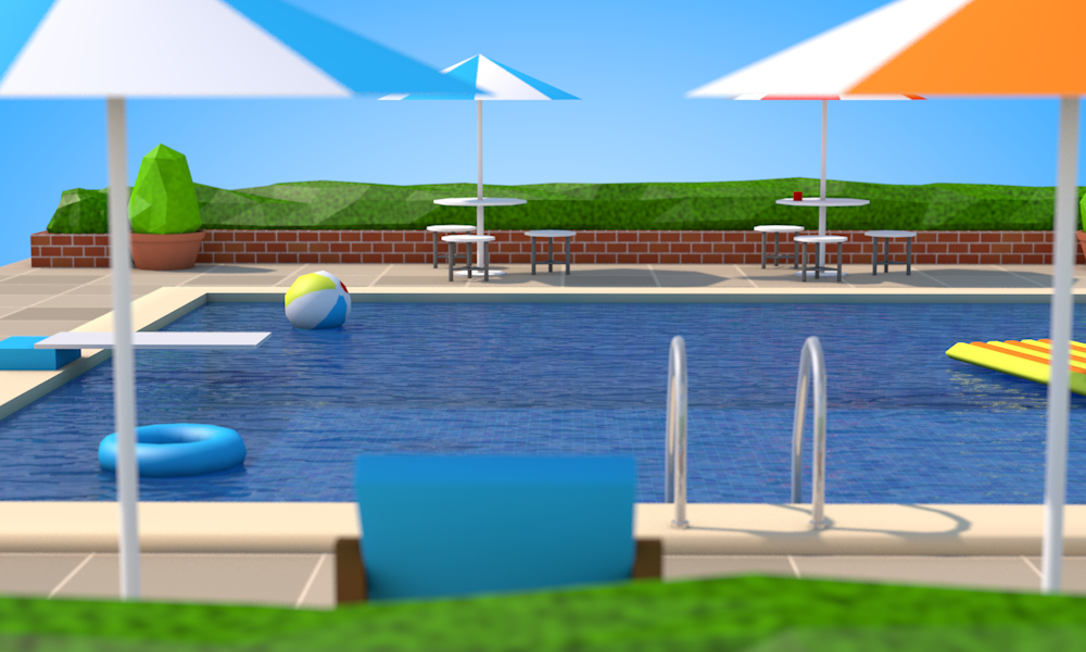 Low Poly Swimming Pool by FormD | 3DOcean