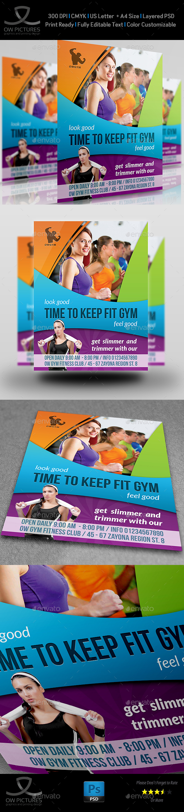 Fitness GYM Flyer Template Vol.3